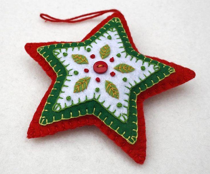 d1521f127abcfcf40320dd922e023613christmas felt ornaments felt christmas decorations - Felt Christmas Ornaments